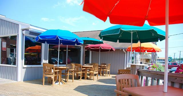 The ice cream deck at Chincoteague's Island Creamery