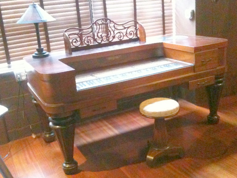 furniture made from old piano 1