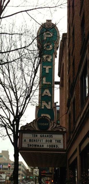 Arlene Schnitzer Concert Hall's Iconic Portland Marquee