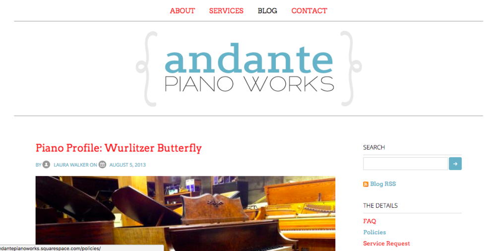 The first iteration of andantepianoworks.com,launched on September 15, 2012
