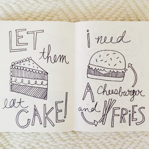Cake, Cheeseburgers & Fries