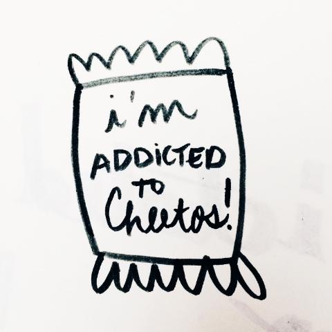 addicted to cheetos
