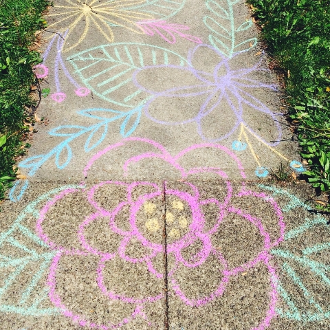 walk through the flowers