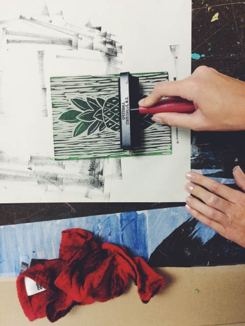 Hanna inking.