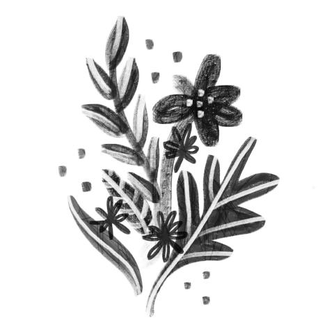 Floral in Black & White