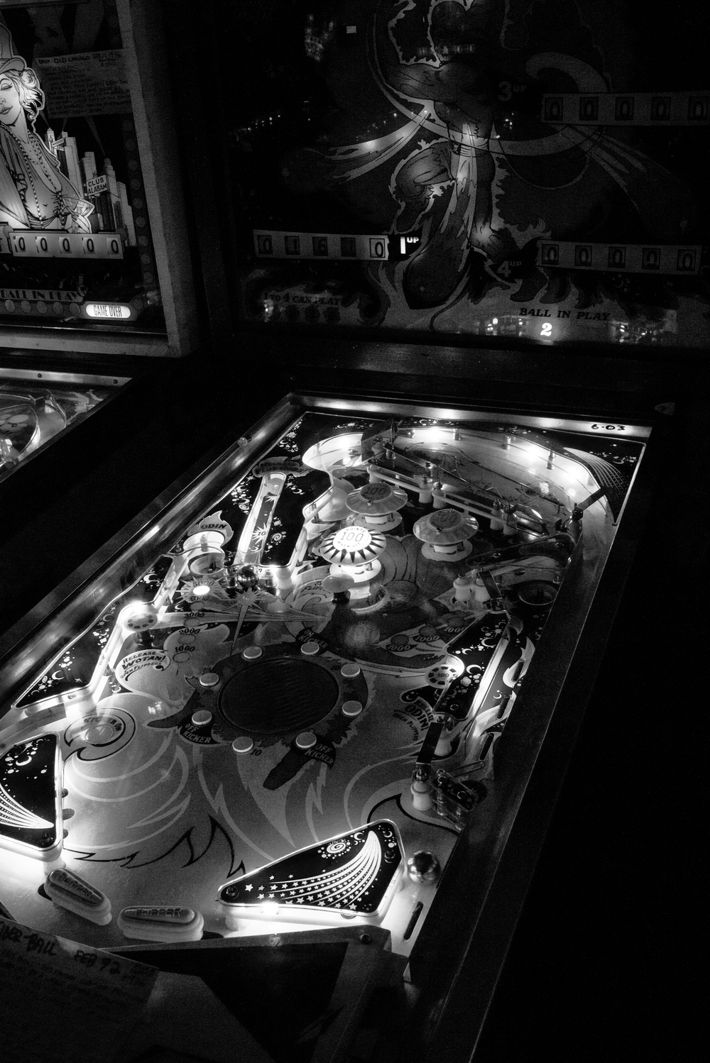 The famous  Fireball  machine from 1972 in action, ready for a round of play. Photo: Trey Takahashi