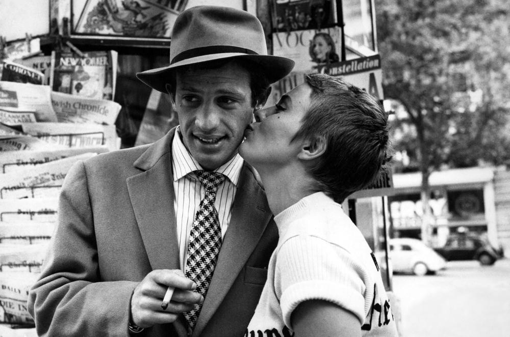 Jean Seberg and Jean-Paul Belmondo in jean-Luc Godard's À bout de souffle  (1960)