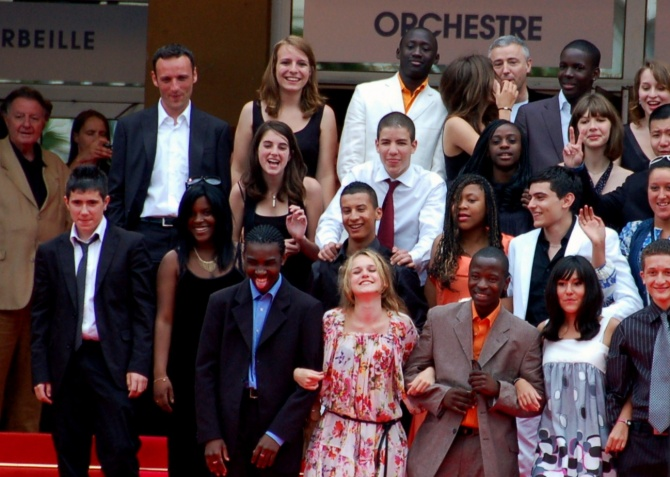 Cast of  Entre le murs  (2008) at the Cannes film festival in 2008. Photo: Georges Biard