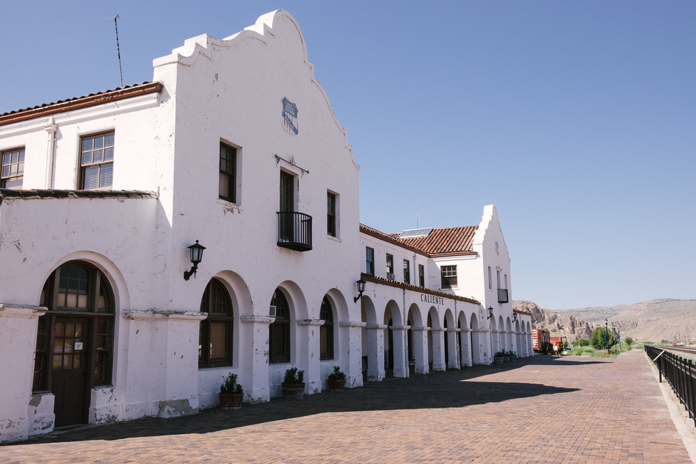 The Spanish railroad depot built in 1923 is now the central hub of town.