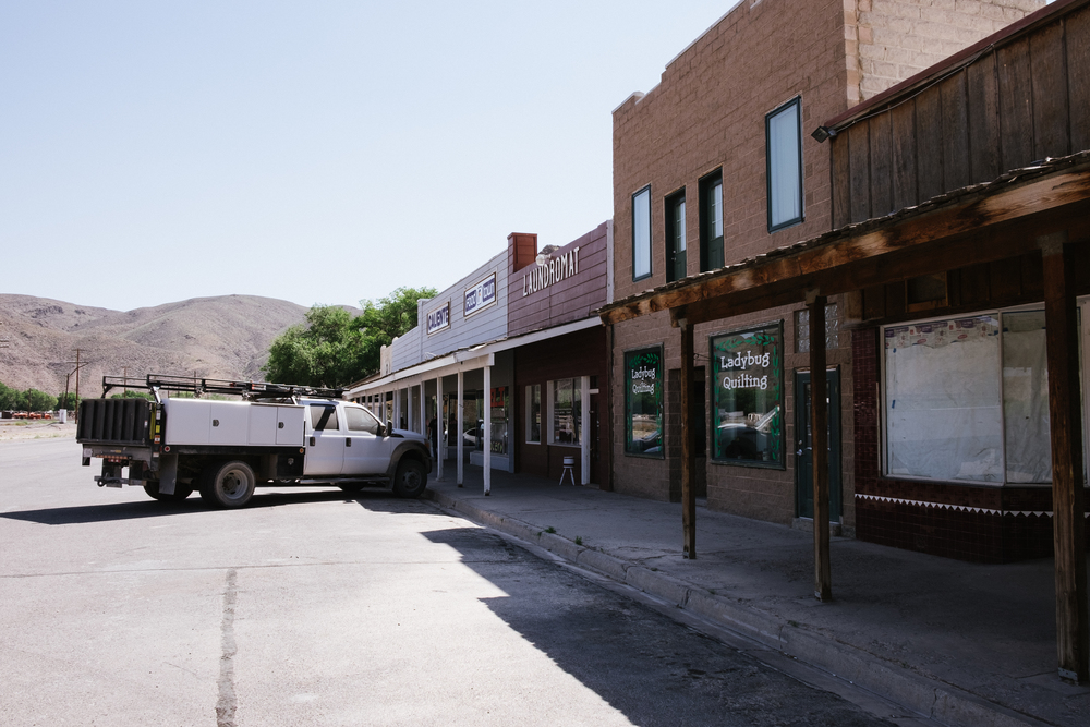 One of the old downtown shopping areas of Caliente