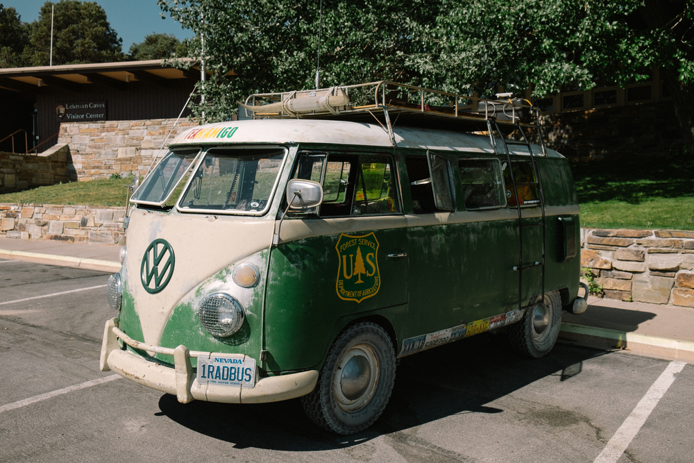 Back at the Lehman Visitor Center we found this very rad bus.
