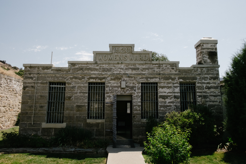 The Woman's Ward stands outside of the main prison walls with its own building, and surrounding walls.