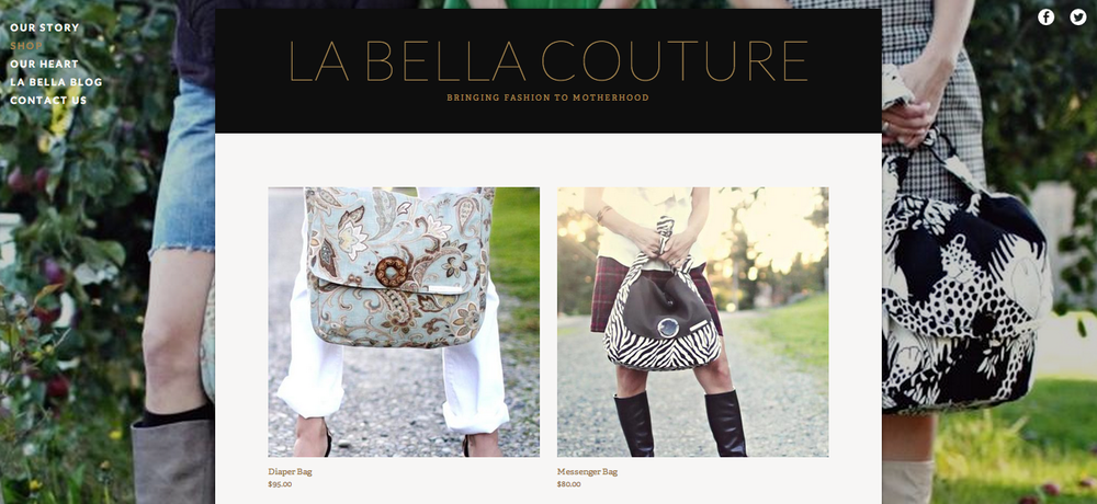 La Bella Couture Website Launch