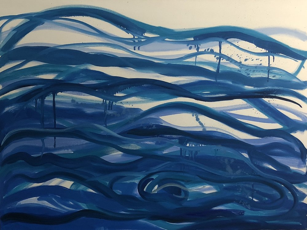 """Water"" by Ruth Formica. Oil on canvas 36""X48"""