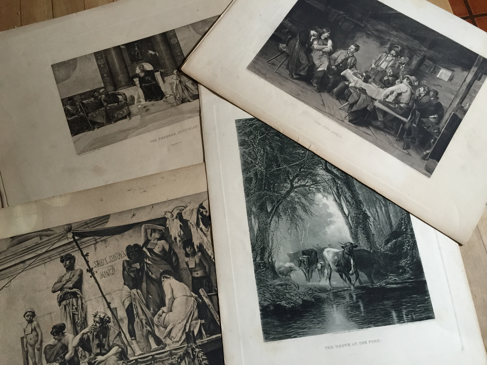 Prints from a subscription series offered in early 20th century, which I inherited from a friend.