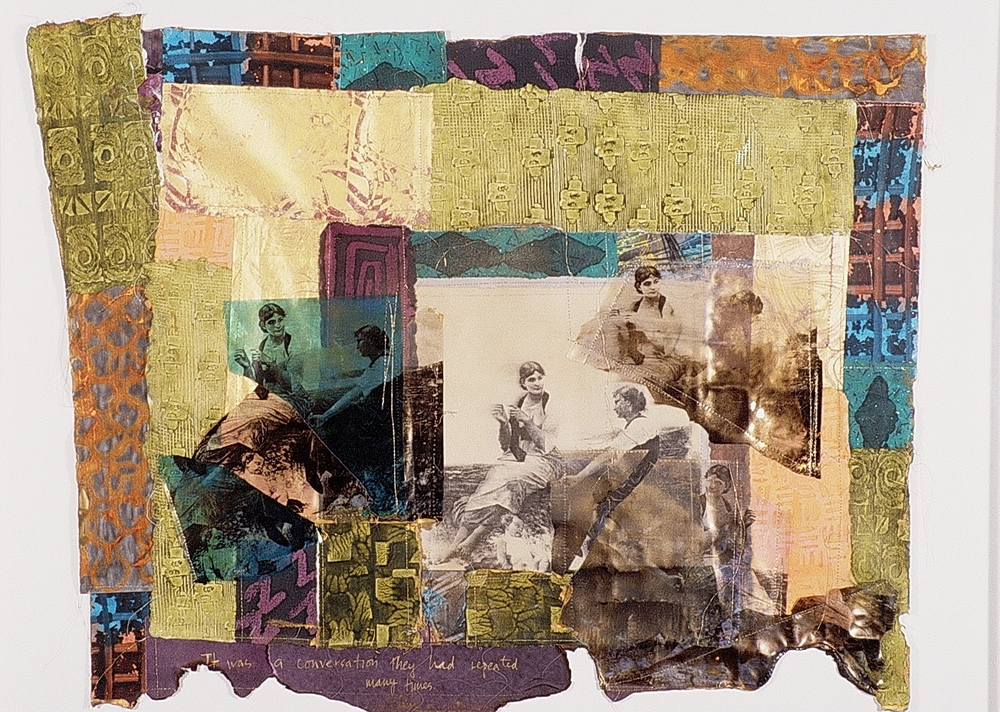 It Was a Conversation They Repeated Many Times. 1998. Paste papers & photo transfers on silk.