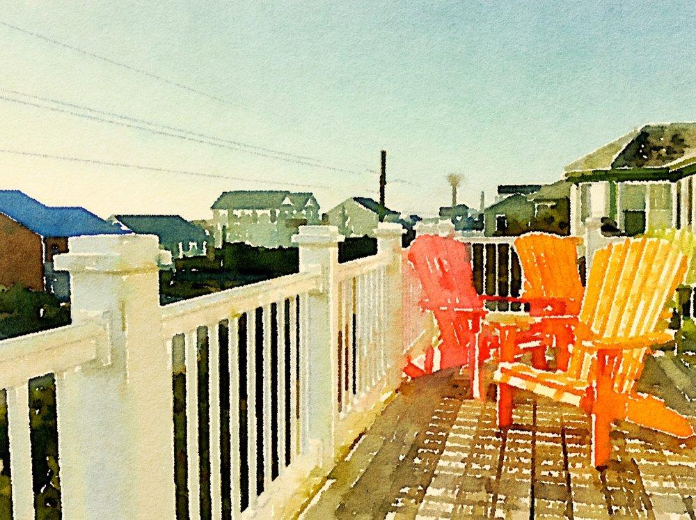 Beach View II -