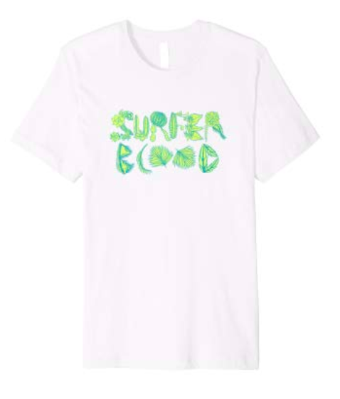 Surfer Blood 1000 Palms Plants T-Shirt (White)