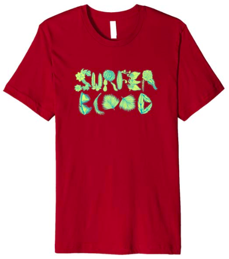 Surfer Blood 1000 Palms Plants T-Shirt (Cranberry)