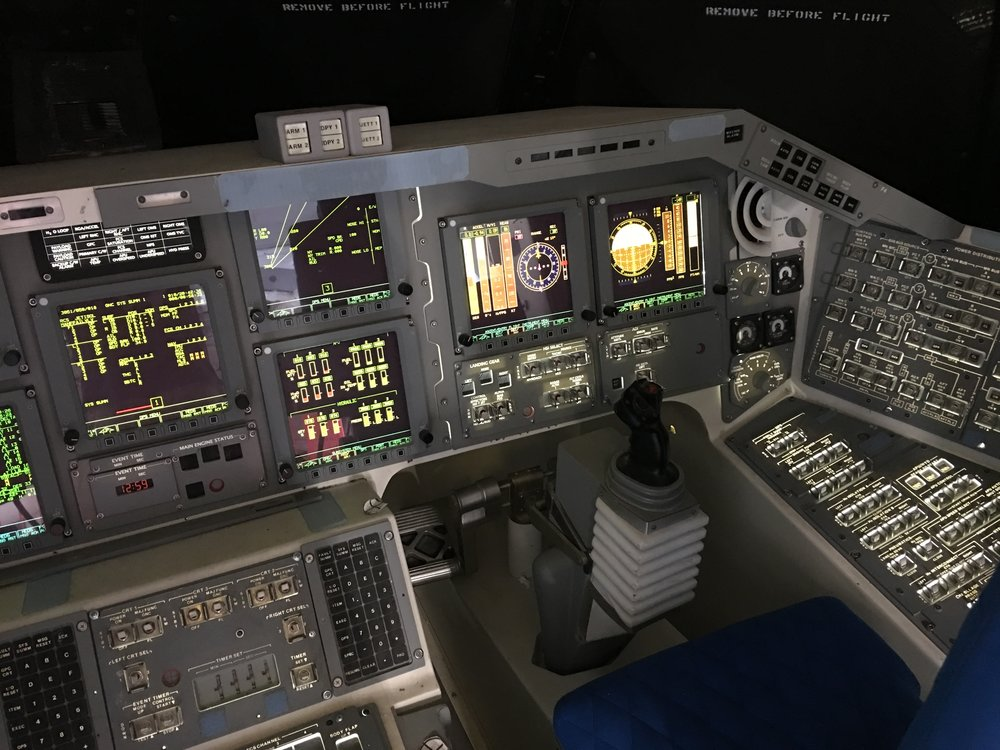 The Space Shuttle cockpit shows the electronic complexity that is increasingly a target for cyberattacks on satellites and other space vehicles