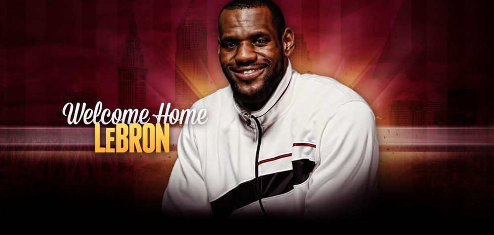 Lebron James Comes Home Cleveland Cavaliers Source