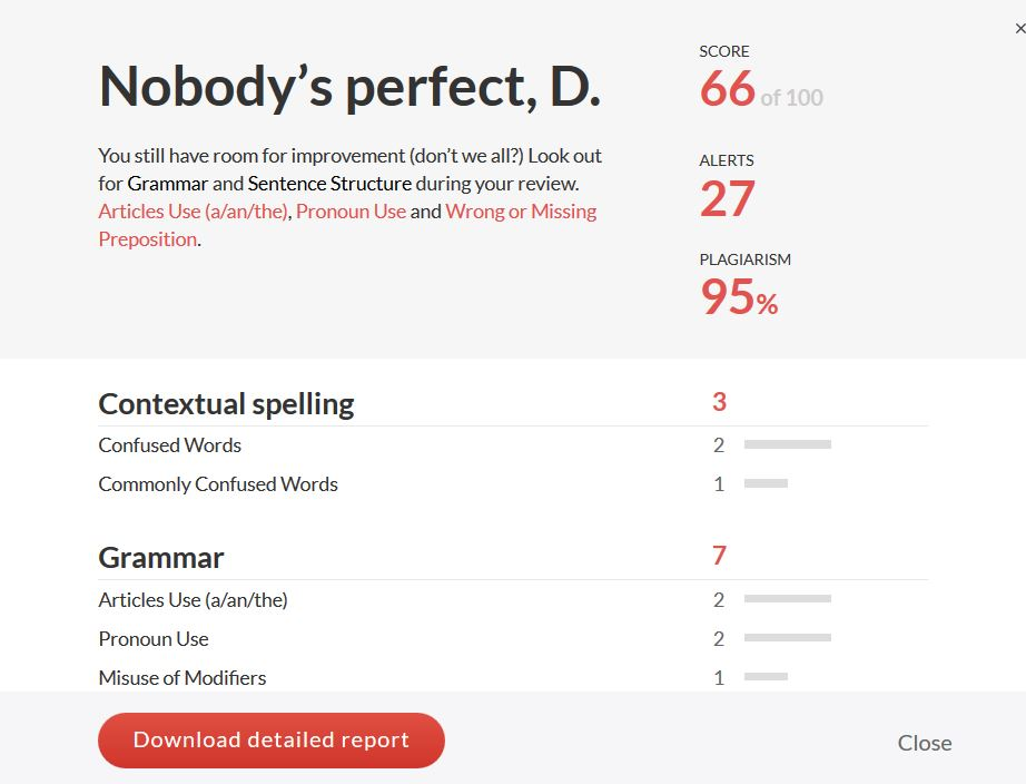 Grammarly Review Learn How To Use Grammarly Tips Score Report Source