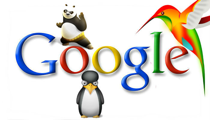 Google Penalty Google Panda Google Penguin Google Hummingbird Google Pets   Source