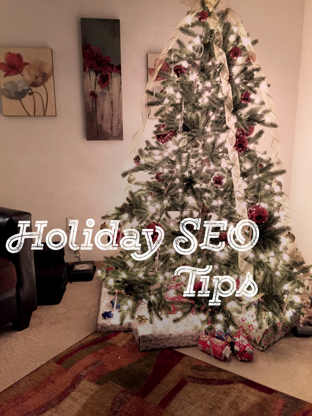 Holiday SEO Tips Candid Writer Christmas Tree   Source