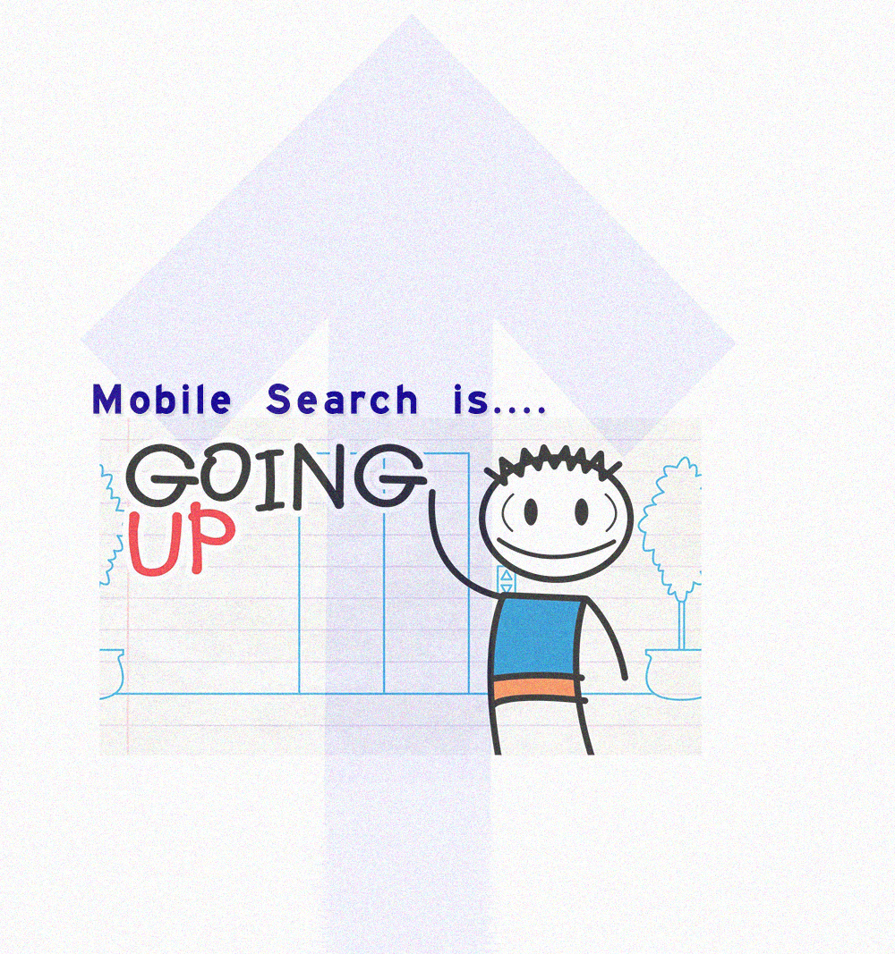 Going Up Mobile Search On The Rise   Source