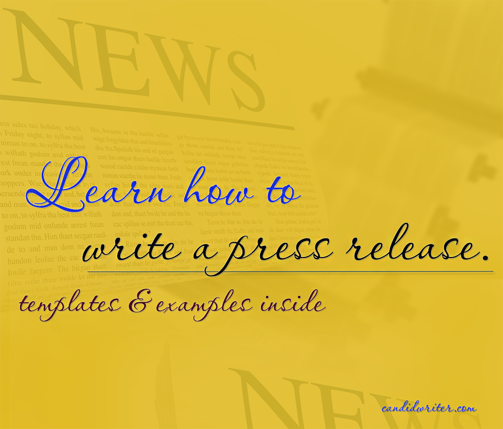 Press Release Templates And Tips On How To Write A Press Release Source