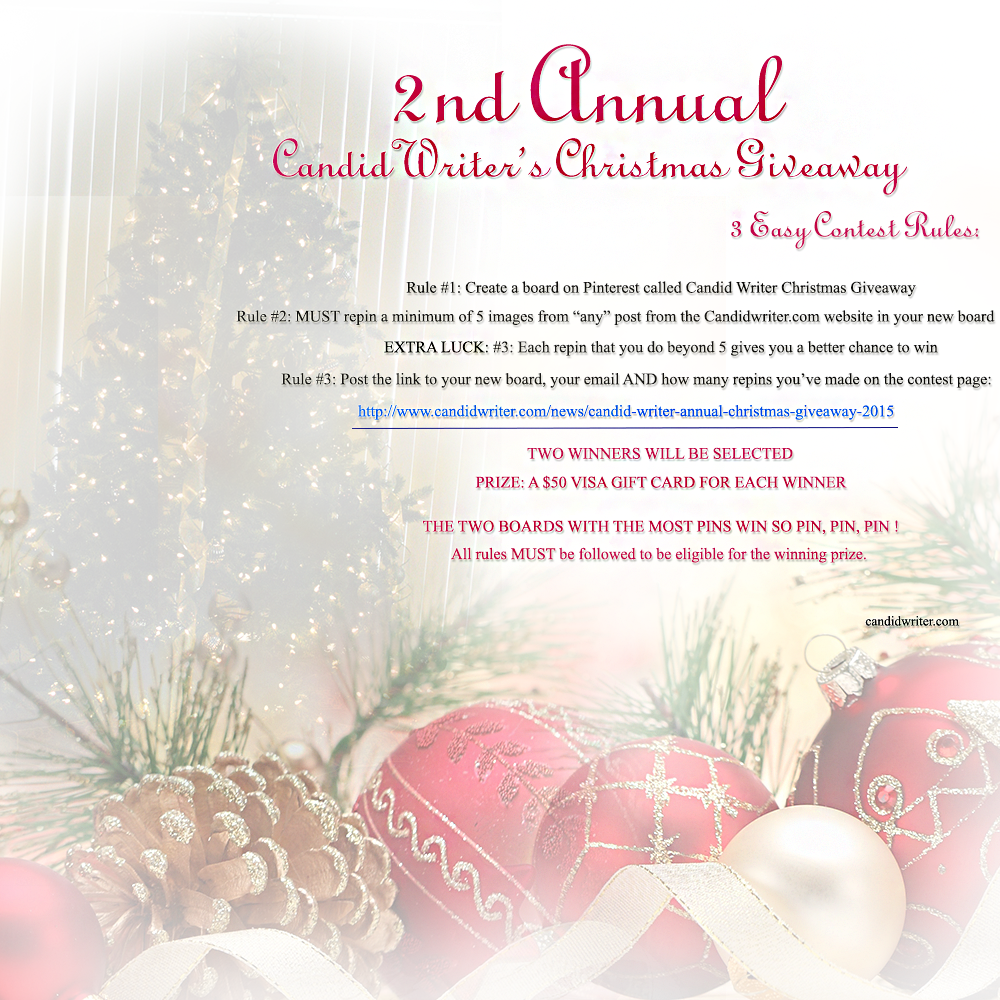Candid Writer Annual Candid Christmas Giveaway And Contest 2015   Source