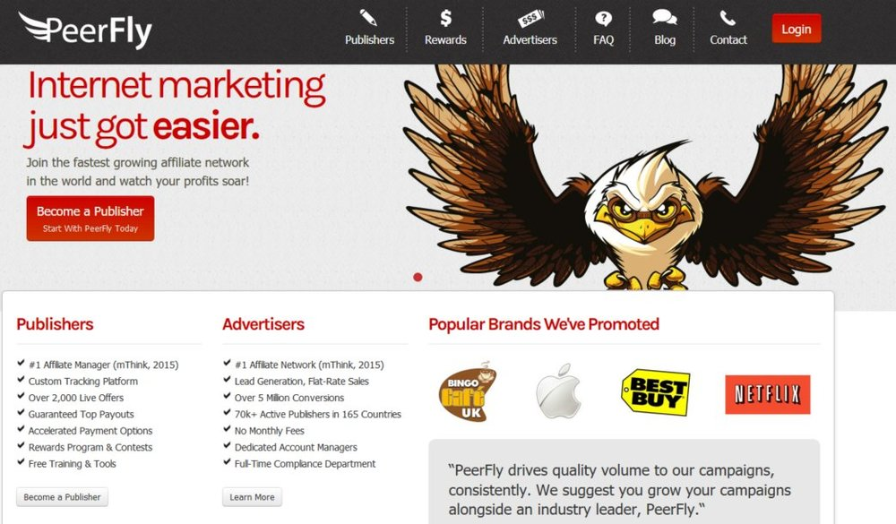 Peerfly Review CPA Make Money Online Login Source