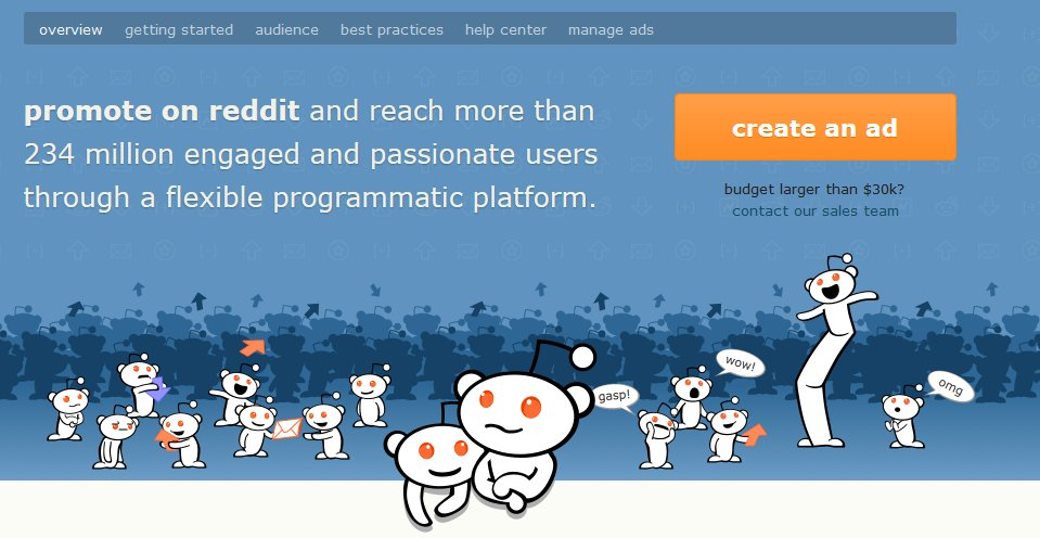 Reddit Ads Create An Ad Main Page Source