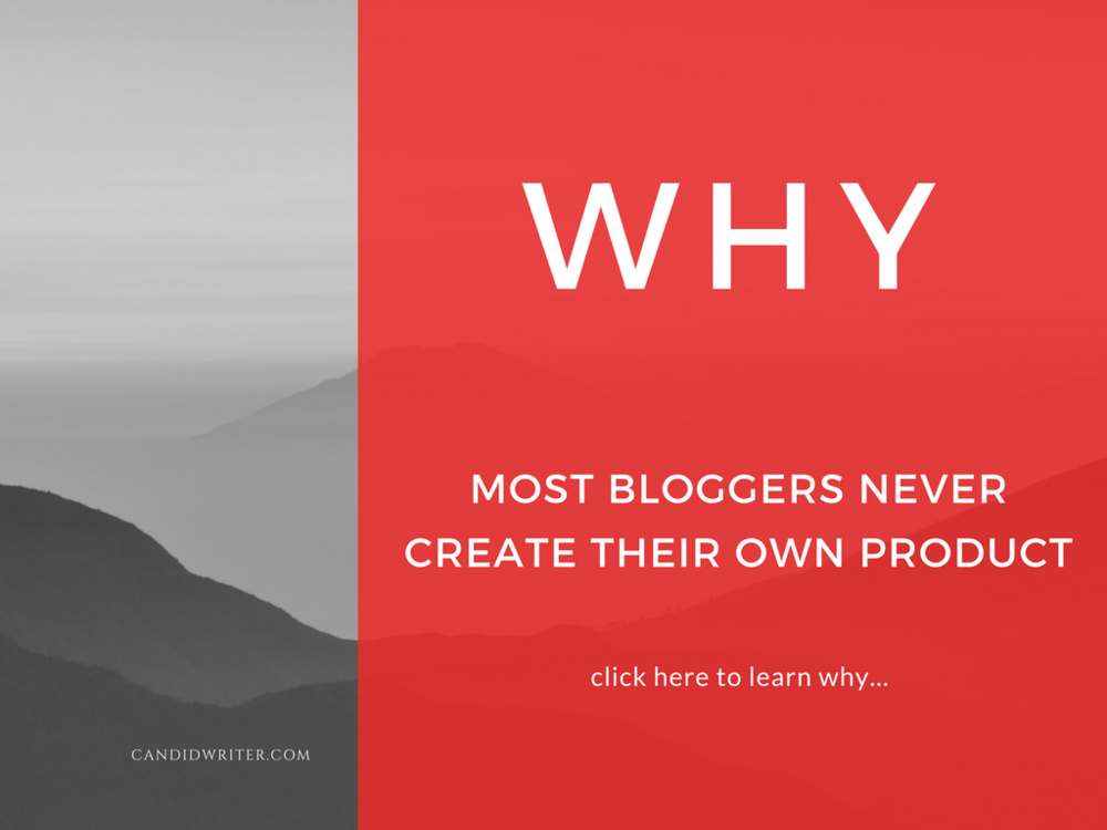 Bloggers Never Create Products For Their Blogs Source