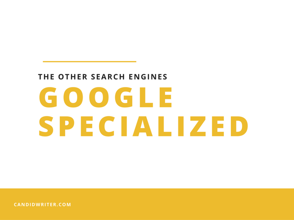 Specialized Search Engines Of Google  Source