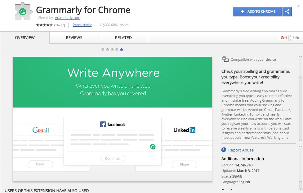 Grammarly Chrome App Extension Source