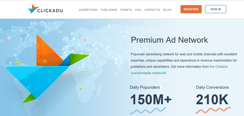 Clickadu Title Page Google Adsense Alternative Pop Under Ad Network   Source