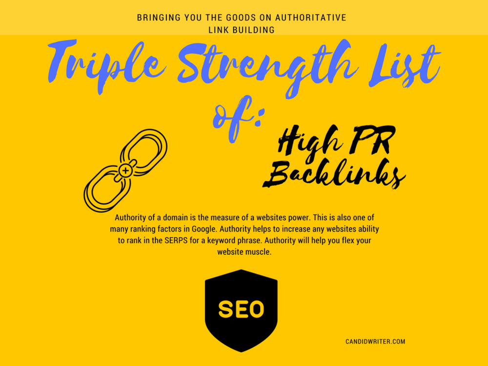 High PR Backlinks Free And Paid   Source