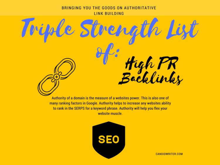 Triple Strength High PR Backlinks Power
