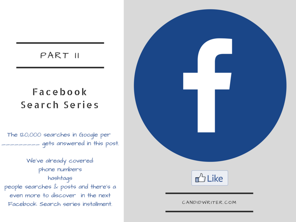 Facebook Search Graph Advanced & More   Source