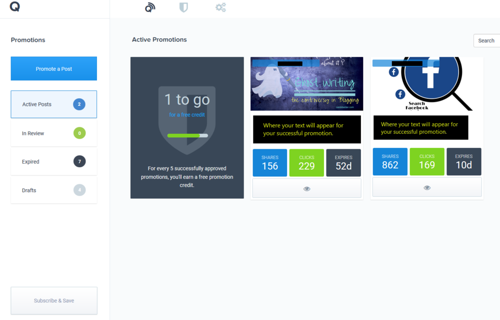 Promote Your Blog With Quuu Promote Dashboard   Source