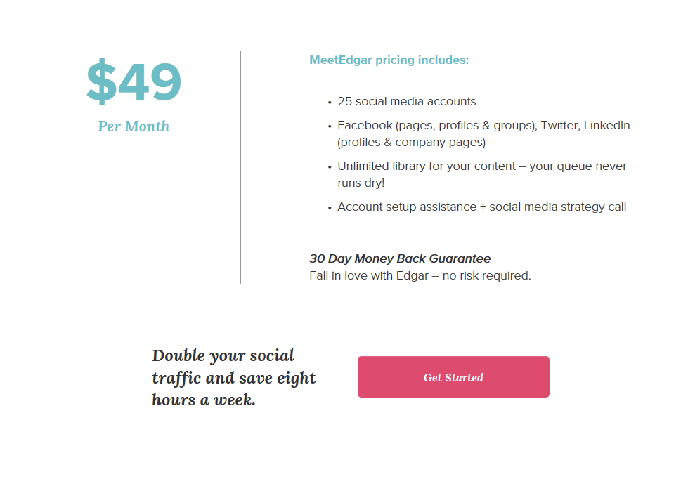 Meet Edgar Review Social Media Pricing Plans   Sour  ce