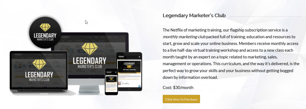 Legendary Marketer Review Affiliate Marketing High Ticket Products Marketers Club   Source