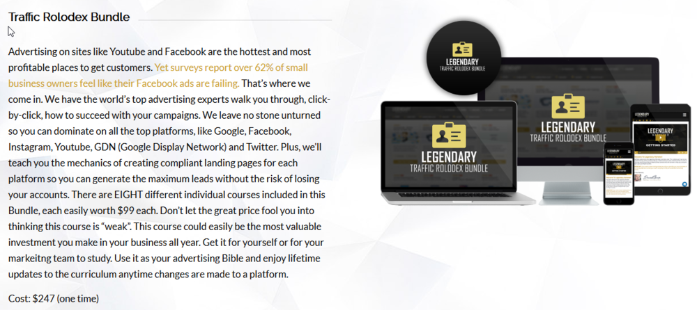 Legendary Marketer Review Affiliate Marketing High Ticket Products Traffic Rolodex   Source