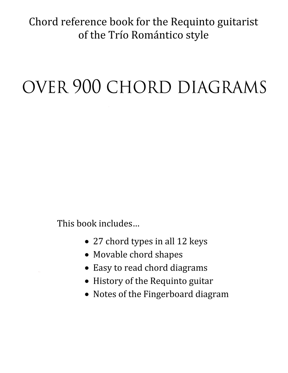 The Requinto Chord Books How To Read Guitar Diagrams Back Cover Click Enlarge