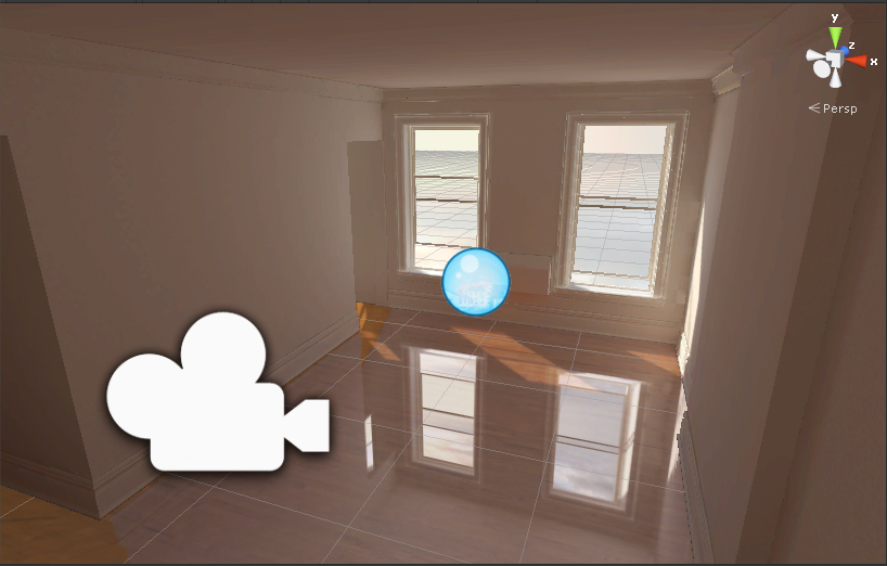 my attempt with the box mapped reflection, notice the issue around the corner of that opening