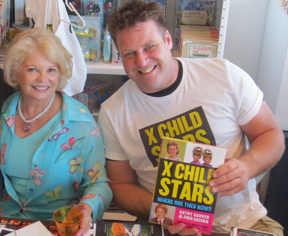 Kathy Garver and her X Child Stars co-author Fred Ascher