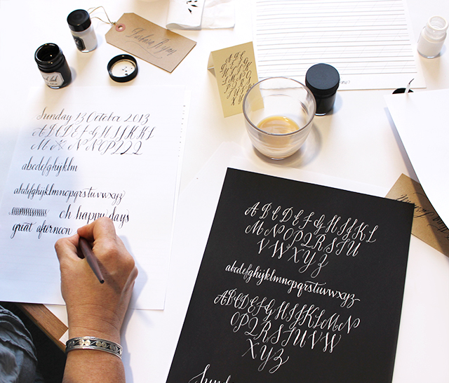 Barbara Ryan's beautiful student calligraphy