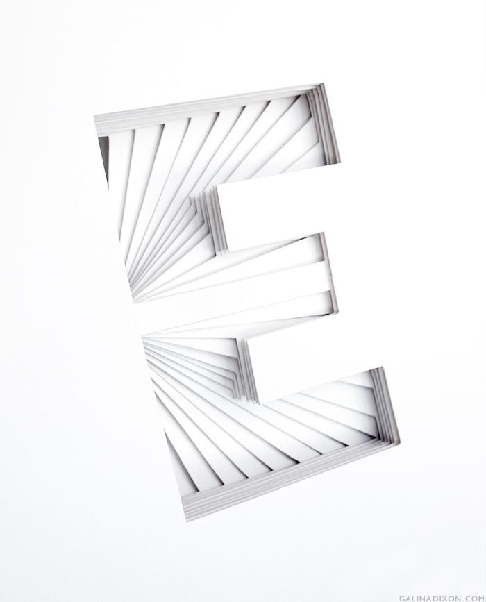 E Paper Sculpture by Galina Dixon© 1