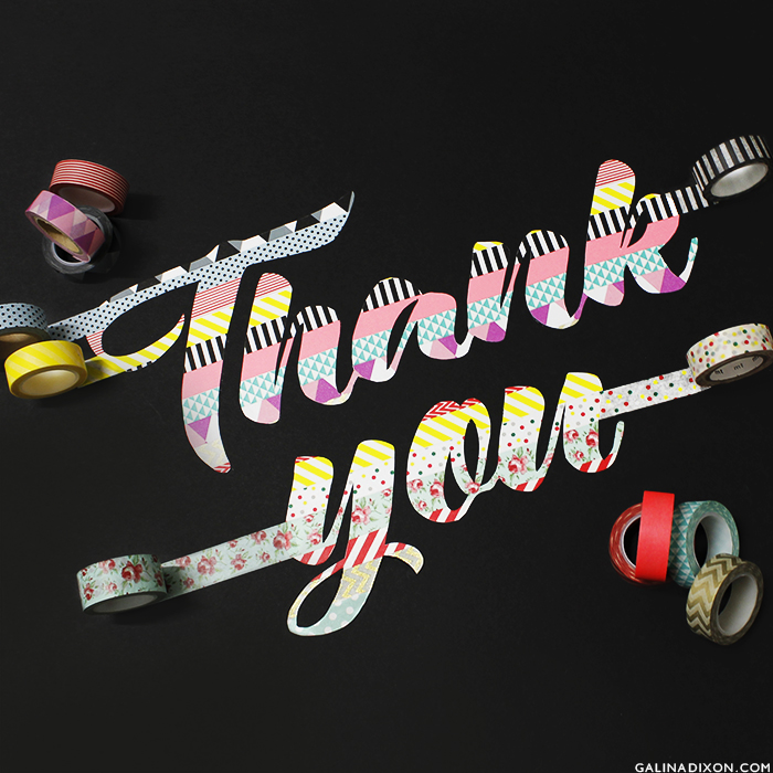 Galina Loves©_Washi Tape Typography